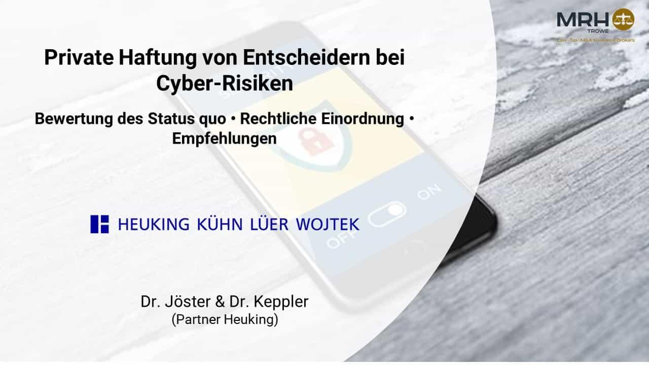 Cyberhaftung Geschäftsführer Vorstände